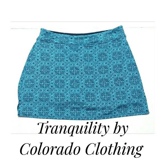 a12741cd0dfe3 Colorado Clothing Pants - Tranquility Yoga Skorts Turquoise Size Medium EUC